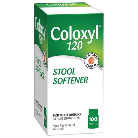Stool Softener For Adults by Coloxyl 120mg 100 Tablets Filmcoat Epharmacy