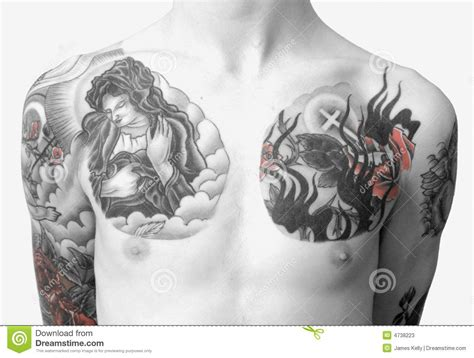 tattoo on chest price tattoo chest stock photos image 4738223