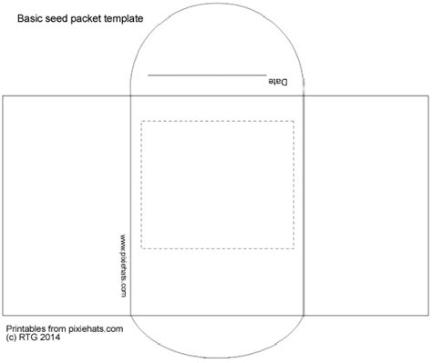 blank seed packet template printable seed packet template vastuuonminun