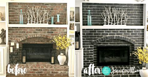How to Paint a Black Brick Fireplace   Jennifer Allwood