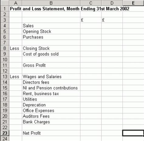 10 Profit And Loss Templates Excel Templates Profit Loss Excel Template