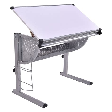 drafting table computer workstation drafting table drawing desk adjustable craft hobby