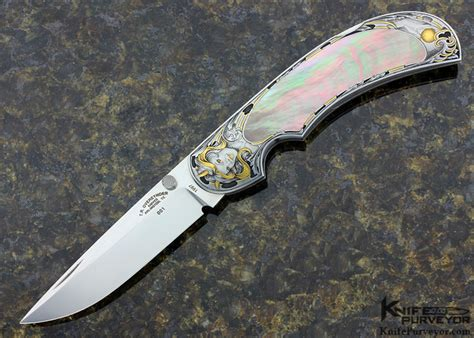 Tom Handcrafted Knives - cover jr engraved tom overeynder black lip lockback