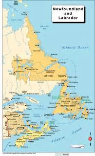 newfoundland map canada newfoundland canada map images