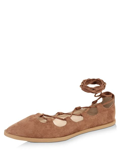 qupid shoes flats buy qupid lace up flats for s brown flat