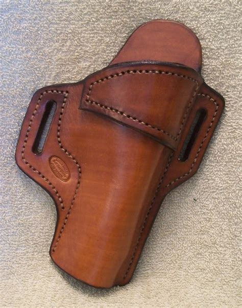 Handmade Leather Holster - leather owb belt holster s w 4506 jackson leatherwork llc