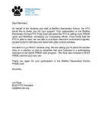 Thank You Letter To Parents From Pto Thank You Letters Pto Today