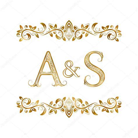 a s a s vintage initials logo symbol stock vector 169 vectordivider 115448938