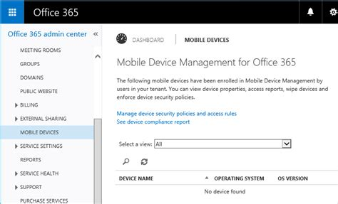 Office 365 Mdm Office 365 Mobile Device Management Device Policies