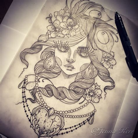 pin up doll tattoos 40 best drawings by kerr images on