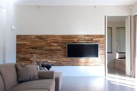 partial wood wall  tv interior design deco