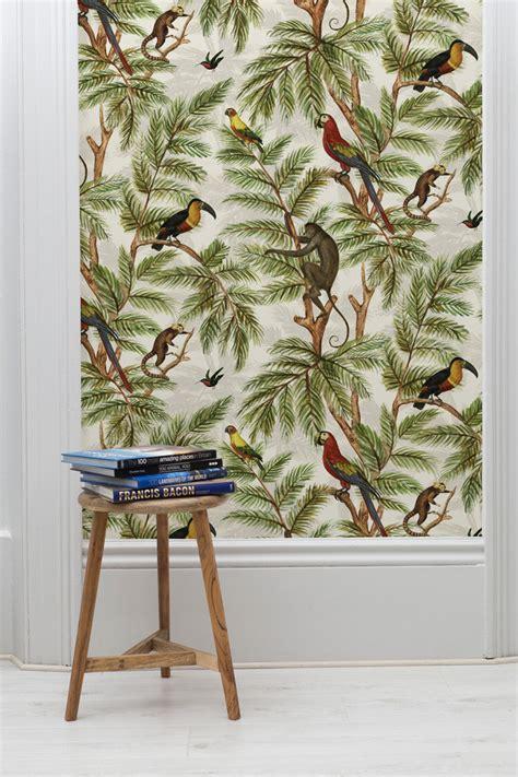 jungle print wallpaper wallpaper monument interiors