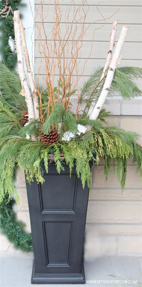 front door urn ideas entryway decor ideas setting for four