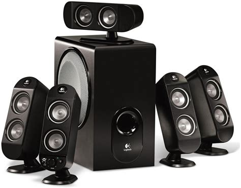 logic tech logitech x 530 5 1 soundsystem xlautsprecher pc