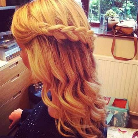 prom hair styles for long hair down hairstyles trendy 20 down hairstyles for prom hairstyles haircuts 2016