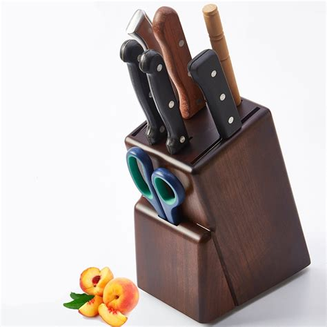 Kitchen Utensils Knife Holder Top Grade Bamboo Kitchen Knife Holder Wood Multifunctional