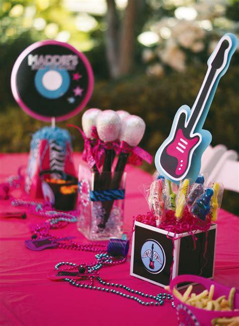 rock centerpieces totally rad rockstar birthday hostess
