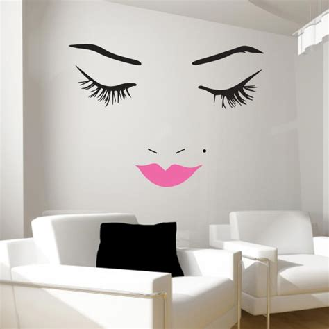 Beautiful face wall decal lips wall decals wall decal world