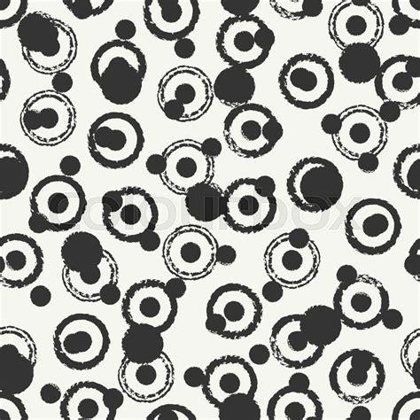 polka dot seamless pattern background hand drawn vector hand drawn geometric seamless ink polka dot pattern