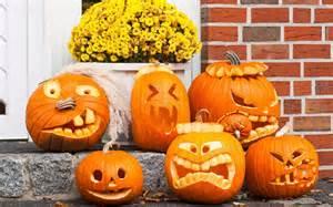 pumpkin funny faces wallpaper 2560x1600 929 wallpaperup