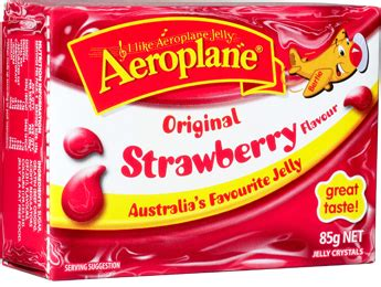 Aeroplane Glitter Jelly Strawberry Flavour 16 treats that make you proud to be aussie the new daily