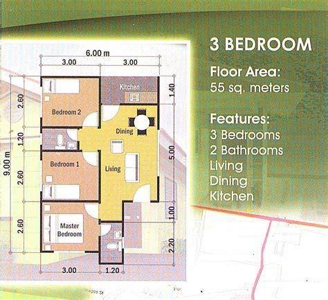 floor plan with 3 bedrooms east homes mansilingan magnetize negros properties