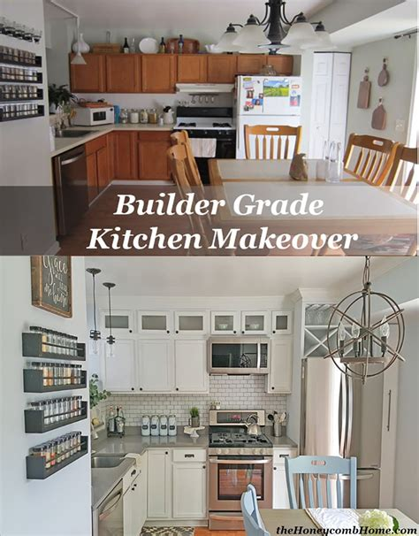 contractor grade kitchen cabinets kitchen makeover reveal a giveaway builder grade