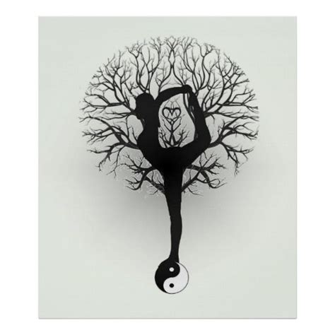 yoga tattoo designs and meanings yin yang tree of poster customizable