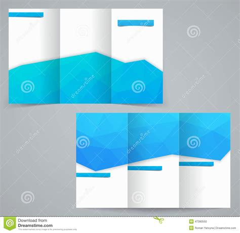 corporate jacket layout three fold business brochure template with triangles