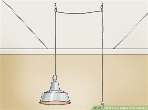 how to hang lights from a ceiling 13 steps with pictures
