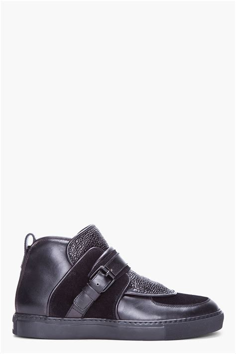 givenchy sneakers givenchy black padded leather sneakers in black for lyst