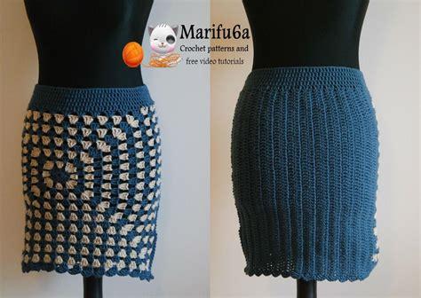 easy skirt pattern crochet easy warm skirt for beginners by marifu6a craftsy