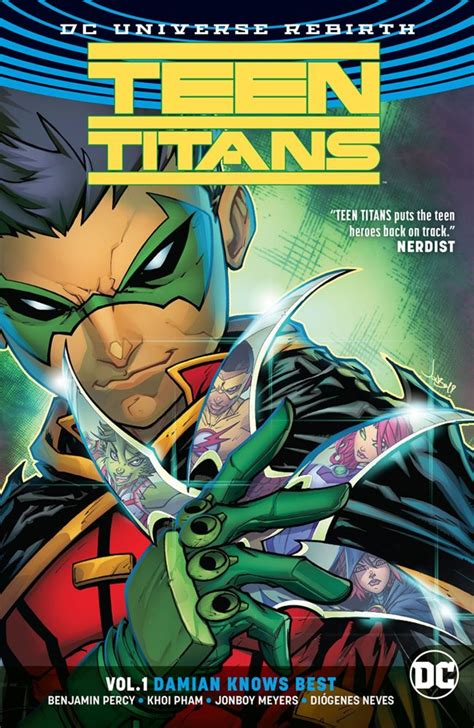 libro titans tp vol 1 teen titans vol 1 damian knows best rebirth project fandom
