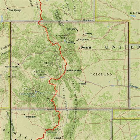 continental divide map colorado continental divide map arizona map