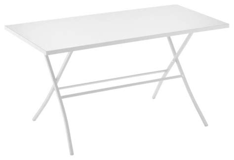 White Folding Dining Table Spice Large Rectangular Folding Dining Table White Traditional Folding Tables By Heal S