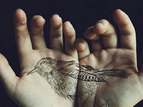 natural tattoo ink looking black ink detailed divided bird on