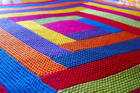 knitting blankets and a pattern for mitred squares knit as