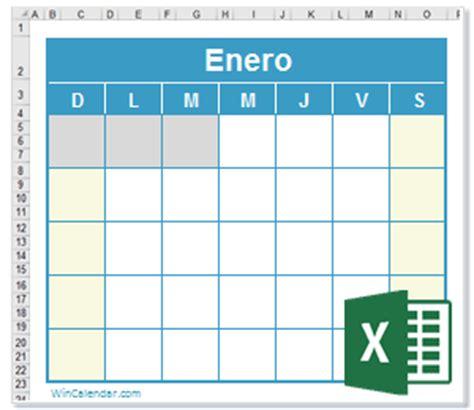 caledario excel 2017 gratis calendario xls en blanco
