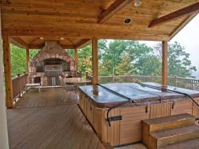 Rustic Bathrooms Pictures - rustic tub with outdoor kitchen in windham ny