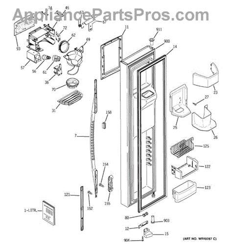 Refrigerator Door Replacement Parts by Parts For Ge Pss26mgpaww Freezer Door Parts