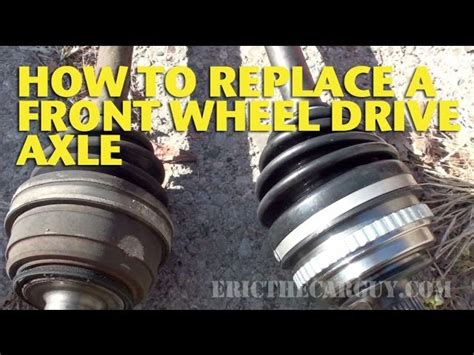 how to replace front differential on a 2012 rolls royce ghost how to replace a front wheel drive axle ericthecarguy 123vid