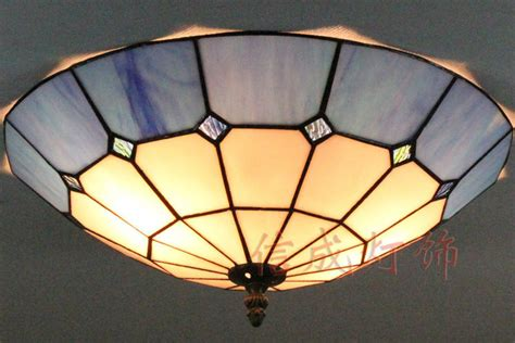 12 16 Inch Tiffany Stained Glass Ceiling Lights Blue And Ceiling Lights Stained Glass