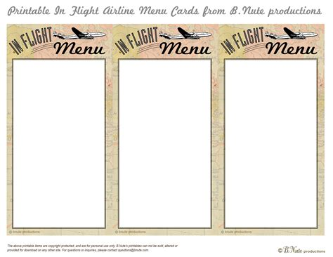 free printable menu cards templates 7 best images of printable menu cards free printable