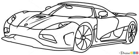 supercar drawing how to draw koenigsegg agera r supercars how to draw