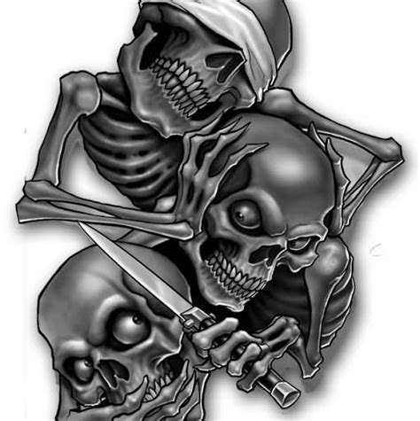 evil skull tattoo designs evil images designs