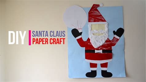 santa claus paper craft santa claus paper craft images craft decoration ideas