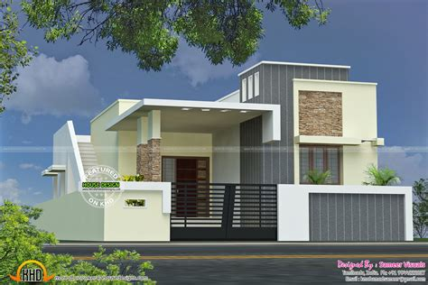 designer house single floor house plan kerala home design plans