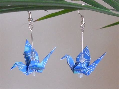 origami crane earrings by sakuralu83 on deviantart