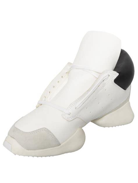 adidas rick owens rick owens x adidas runway leather sneaker whiteblack in