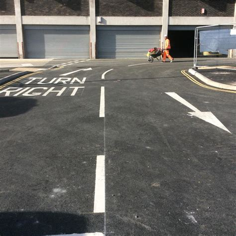 car park plymouth car park marking at plymouth coach station line marking